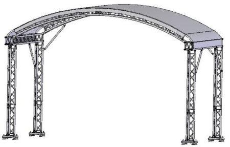 Evo-truss 6x4 íves tető