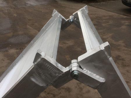 Összecsukható alumínium rámpa